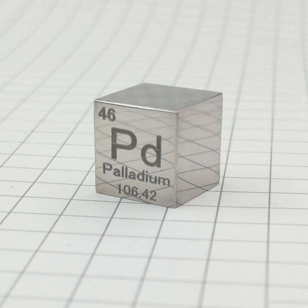 Métal palladium 9995 pur 10mm Pd   cube de densité sculpté/élément de lingot, table périodique, livraison gratuite