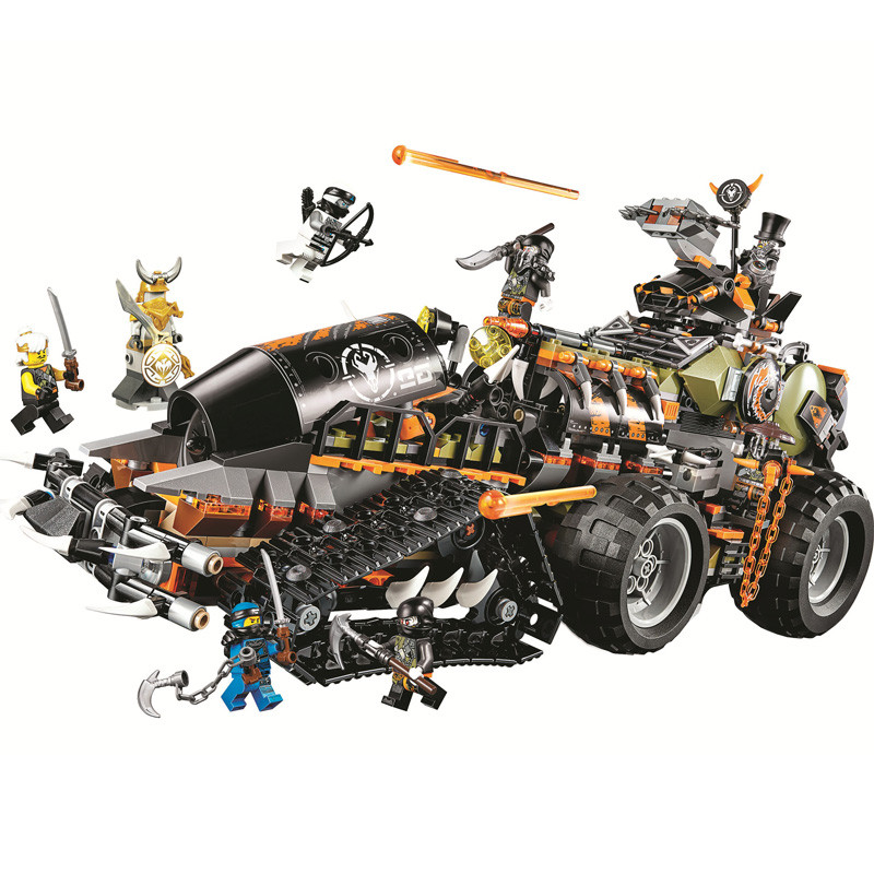 1221pcs Ninjagoed Dieselnaut Set Building Blocks Bricks Kids Toys For Children Christmas Brithday Gift 10939