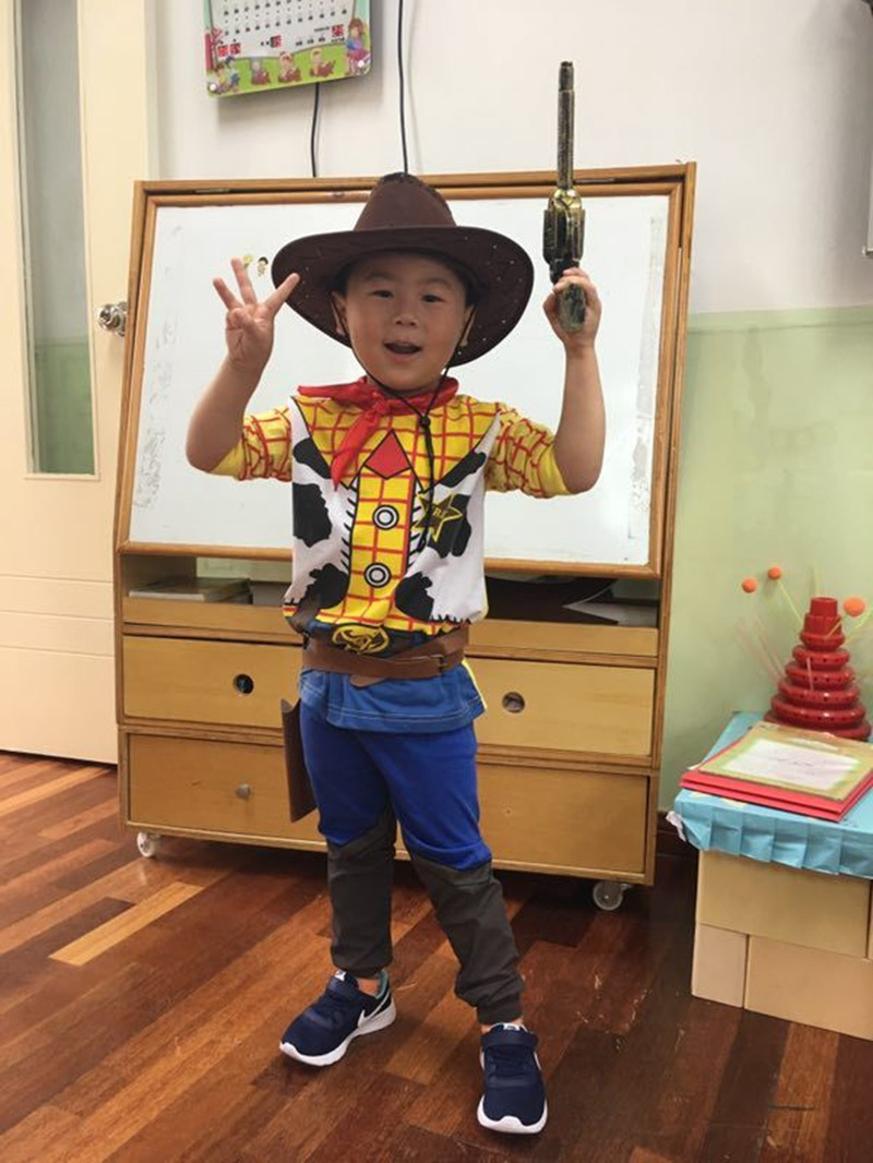 Halloween Movie Toy games Children Cowboy Woody Costume Boy Woody Role Play Costumes Fancy Cloths with hat and gun
