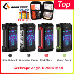 Geekvape Aegis X 200W mod 2.0 ALS chipset vaporizer sigaret Doos MOD fit zeus x rebuildable Vaporizer Tank vs ehpro Koud Staal