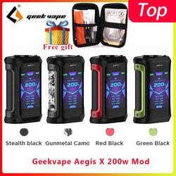 Geekvape Aegis X 200W mod 2.0 COME chipset vaporizzatore sigaretta Box MOD fit zeus x ricostruibile Vaporizzatore Serbatoio vs ehpro In Acciaio A Freddo