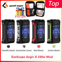 Geekvape Aegis X 200W mod 2.0 comme jeu de puces vaporisateur boîte à cigarettes MOD fit zeus x réservoir de vaporisateur reconstructible vs Ehpro acier froid