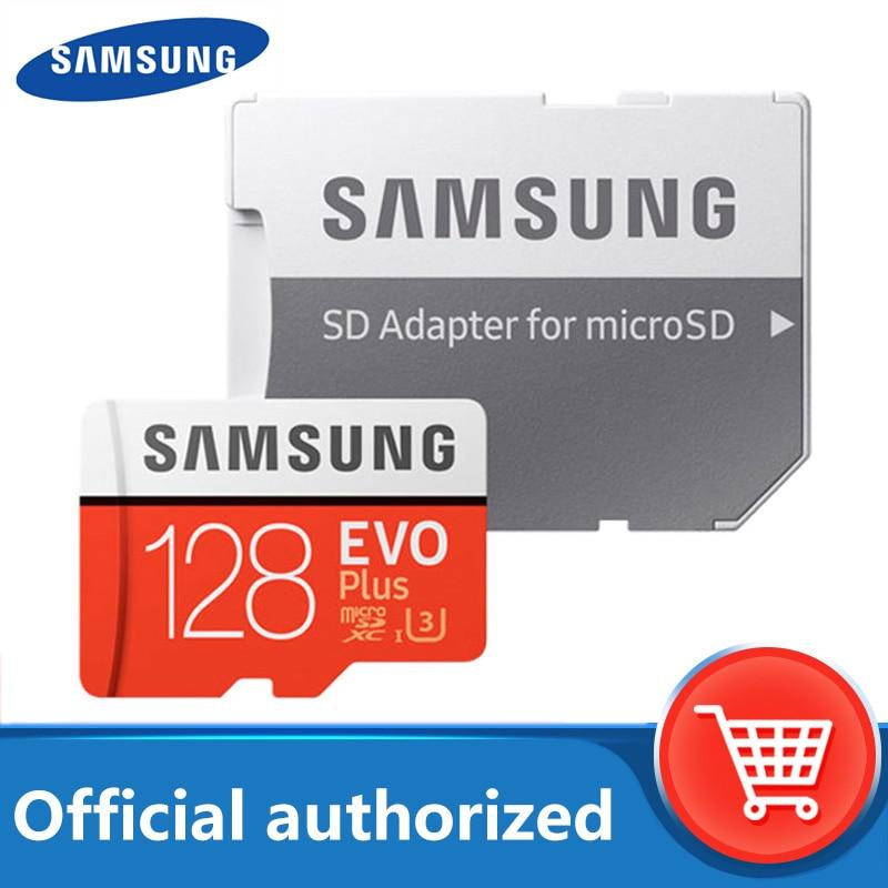 SAMSUNG – carte Micro SD EVO Plus, 128 go/32 go/64 go/256 go/512 go, classe 10, U3, TF, flash, carte mémoire pour téléphone portable