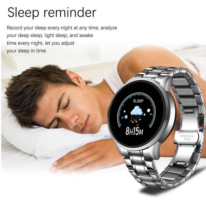 ליגע גברים שעון ספורט כושר Tracker עבור אנדרואיד ios LED מסך דם קצב לב צג לחץ עמיד למים חכם שעון נשים