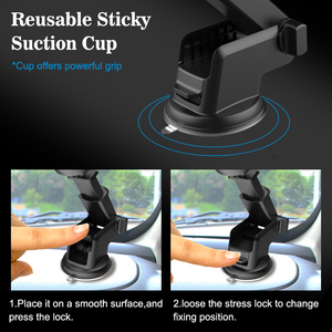 Image 3 - Windshield Gravity Sucker Car Phone Holder For iPhone 7 8 X XS MAX Holder For Phone In Car Mobile Support Smartphone  Stand