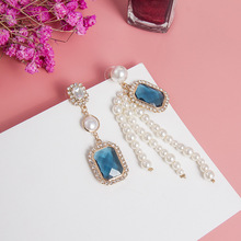 2019 New Vintage Womens Pendant Earrings Korean Fashion Long Fringe Rhinestone Jewelry With Exaggerated Personality