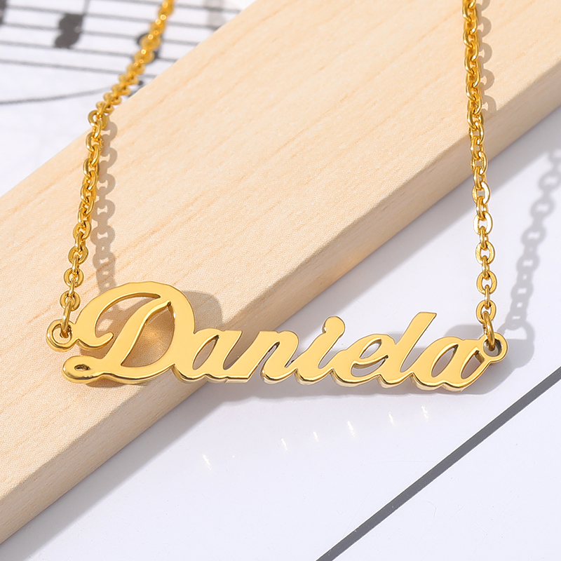 Custom Name Necklaces Pendents Stainless Steel Jewelry Personalized Name Necklace For Women Girl BFF Collares Mujer Bijoux Femme