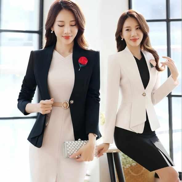 Vestido de talla grande para mujer, traje de oficina, chaqueta Formal con longitud hasta la rodilla, trajes de dos piezas para mujer, Juego de 2 piezas, 5XL