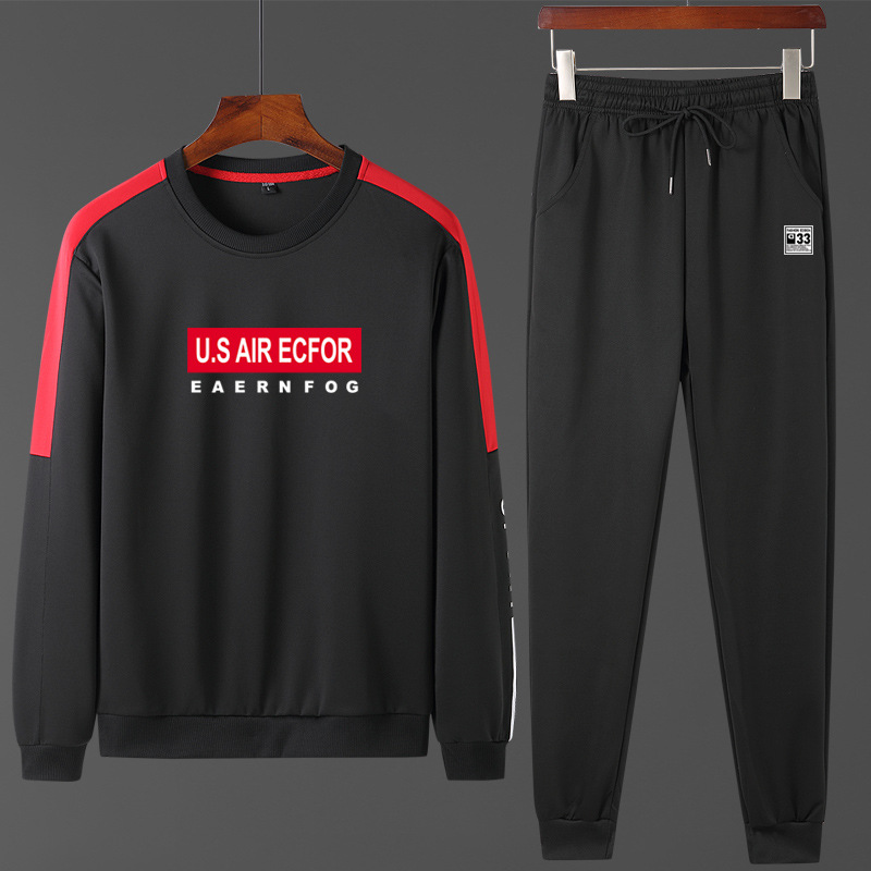 Hoodie Suit Spring Men 2020 New Style Autumn And Winter Crew Neck Sports Set Casual Trend Versatile Two-Piece Set