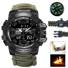 Top Brand Military Watch Outdoor Living Sports Men Watches with Compass Waterproof Electronic Digital Mountain Wristwatch outdoor life waterproof watch fashion digital wrist watches mens hot sale military wristwatch sports men led electronic watch