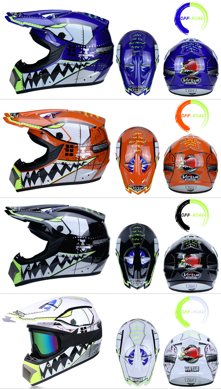 Professional Lightweight Off-road Motorcycle Helmet Racing Bike Children ATV Off-road Vehicle 8