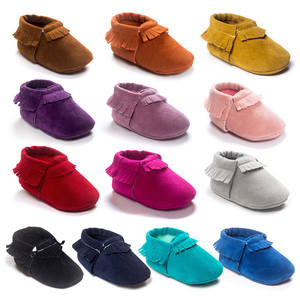 Newborn Infant Cute Baby Shoes Boy Girl Comfort First Walkers Leather Sofe Sole Princess Fringe Crib Shose Casual Moccasins