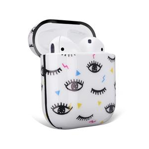Image 5 - Cute Eyes Design For Apple AirPods Case, IMD Soft TPU Case Cover for AirPods 1&2 Convenient charging with Keychain