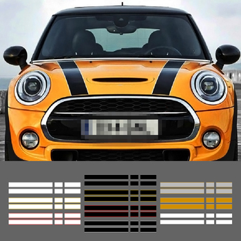 Car Engine Hood Rear Trunk Stripe Sticker Vinyl Decals For Mini Cooper One S JCW R56 R57 R58 F54 F55 F56 Hactchback Accessories