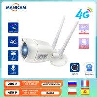 4G SIM Karte GSM IP Kamera Video Überwachung 5MP Sicherheit Schutz WIFI CCTV Videcam Outdoor IR 50M ZWEI WEG Audio ONVIF CamHi