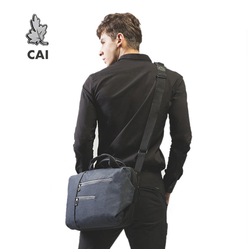 CAI 2019 Business Men Briefcase Gentleman Waterproof Office Bag Laptop Crossbody Shoulder Sling Fashion Bags Causal Gift Husband