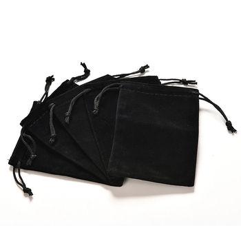2pcsNice koraliki czarna bawełniana pościel sakiewka na prezent torby dekoracyjne torby etui biżuteria i prezent i pakiet telefon tanie i dobre opinie HWetR CN (pochodzenie) Portable Jewelry Box 9inch 1inch Woreczki COTTON 12inch