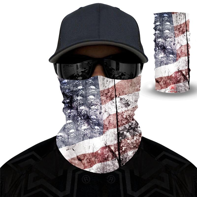 National Flag Magic Scarf Men Cycling Seamless Balaclava Head Scarves Outdoor Sports Headband Neck Warmer Bandanas Face Mesh