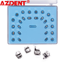 Dentaire AZDENT Supports auto-ligaturants Avec Tube Buccal Roth MBT 0.022 Crochets 3-4-5 Accolades Orthodontiques