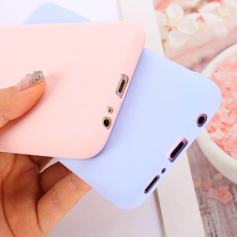 Candy Color Silicon Case For Samsung Galaxy A6 A7 A8 A9 2018 A10 A20 A30 A40 A50 A70 S7 S8 S9 S10 Plus Note 8 9 Soft Cover Case