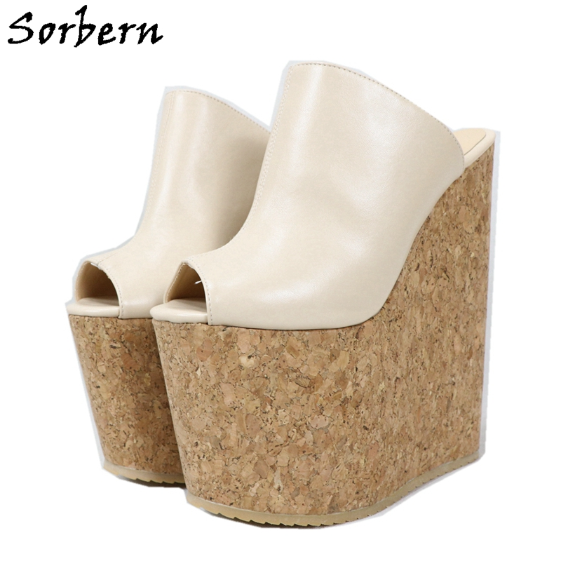 Sorbern 20cm Cream High Heel Pump Shoes