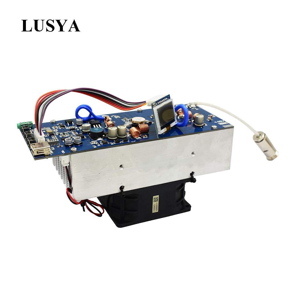 Lusya 150W Stereo RF FM Transmitter Amplifier 76M-108MHz Frequency With Fan And Antenna Radio Station Module DC 48V  I3-008