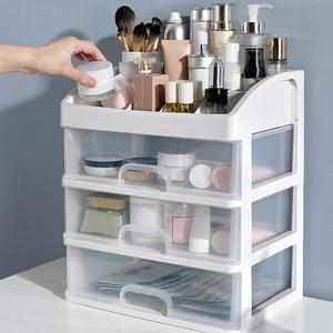 2/3 Layer Plastic Comestic Storage Box Makeup Organizer Brush Storage Box Jewelry Case Sundries Holder Jewelry Organizer Box