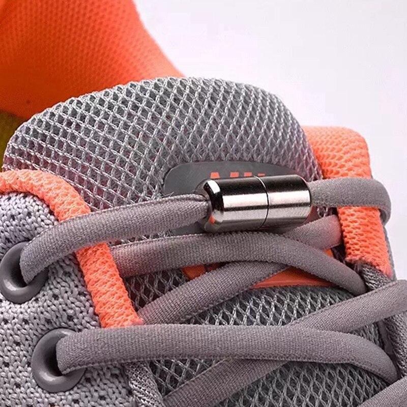 1 par elásticos cadarços de bloqueio semicírculo cadarços tênis sapato cadarços rápido sem laço cadarço crianças sapatos adultos rendas 21 cores