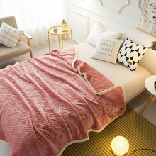New flannel blanket for beds 120%200cm weighted Solid color Soft Sheets home Throw Sofa Bed Free shipping