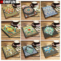 HOMFUN A5 Notebooks 5D DIY Diamond Painting Special Shape Diary Book Diamond Embroidery Cross Stitch Rhinestones Decor Gift