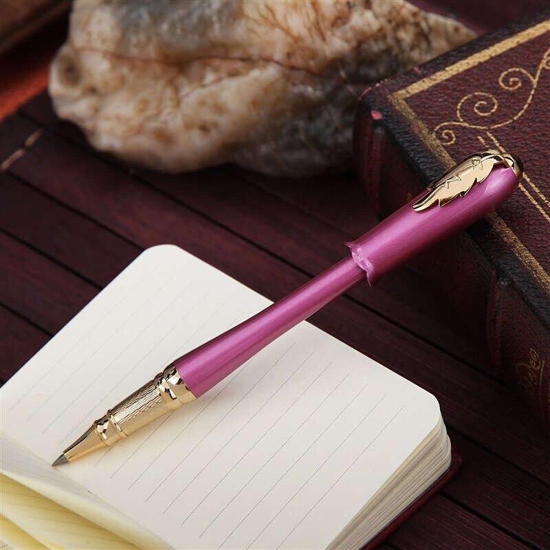 caneta presente feminino roxo bud folha clipe