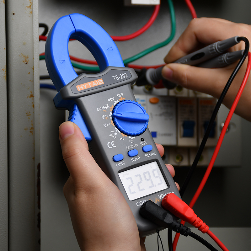 Medidor de braçadeira digital trms ac dc tensão corrente ampere ncv ohm tester amperímetro capacitância hz temp multímetro multi braçadeira tester