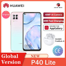 Huawei Hisilicon Kirin 810 Octa Core P40 Lite 6Gb 128Gb Smartphone 48MP Ai Camera 6.4 ''Fhd Scherm 40W Qc الهاتف الخلوي Celular