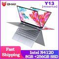 BMAX Y13 360 ° Laptop 13,3 zoll Notebook Windows 10 Pro 8GB LPDDR4 256GB SSD 1920*1080 IPS Intel N4120 touchscreen laptops