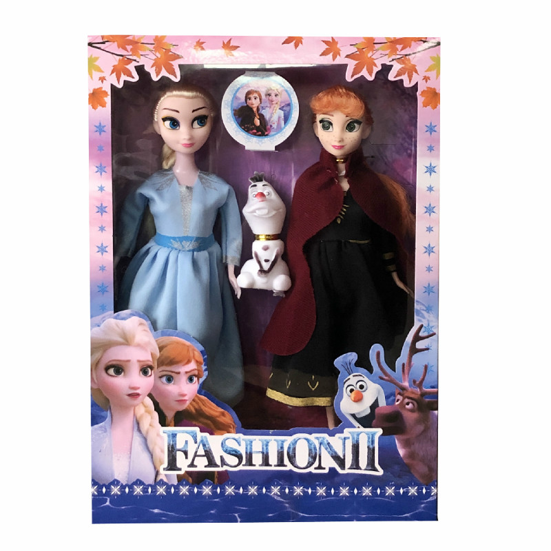 3pcs/set Disney Cartoon 30cm Frozen 2 Doll Anna Princess Baby Girls Plush Toys Elsa Doll Movie Girl Hand Do Gift Toys For Girls