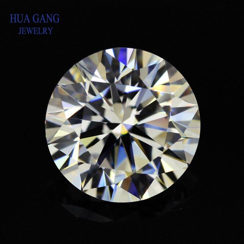 Round Brilliant Cut 0.5ct IJ Color Loose Moissanite Beads 5mm VVS1 Excellent Cut Grade Test Positive Lab Diamond Gemstones