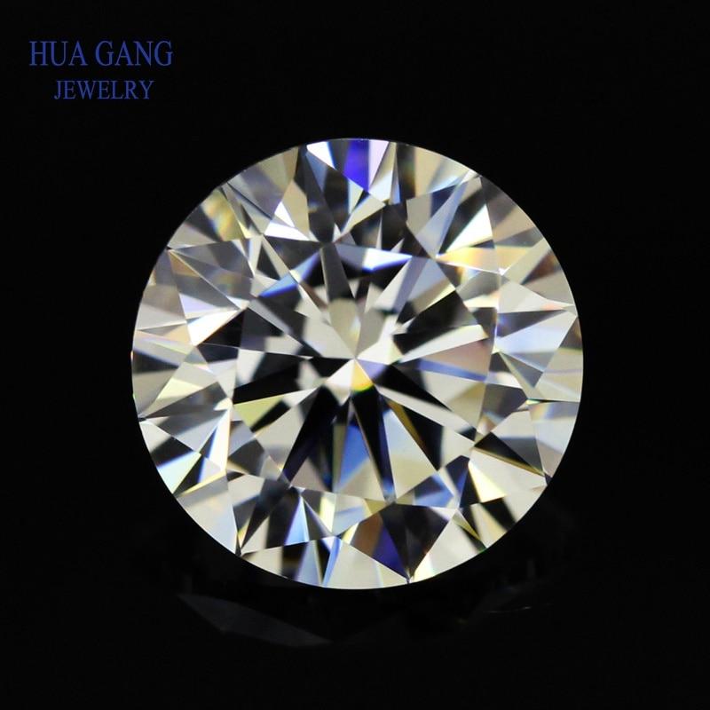 Round Brilliant Cut 0.6ct IJ Color Loose Moissanite Beads 5.5mm VVS1 Excellent Cut Grade Test Positive Lab Diamond Gemstones