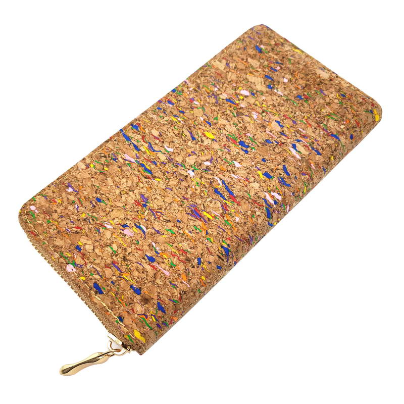 KANDRA Colorful Real Cork Wallet For Women Trendy Vegan Phone Bag Eco Friendly Gift Long Wallet Wooden Wallet Purse Wholesale