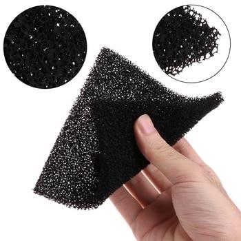 5Pcs/set Universal Black Activated Carbon Foam Sponge Air Filter Impregnated Sheet Pad Filter Sponge