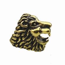 Lion Design Cigarette Holder Rack Finger Ring Smoking Accessories-Gold