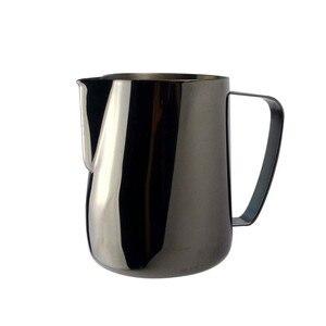Image 4 - Jarra de leche TTLIFE de 0,3 a 0,6 l, jarro de espuma de acero inoxidable, jarro de espuma con forma de flor, Espumador de café y leche, herramienta artística para leche, cafetera de gomaespuma