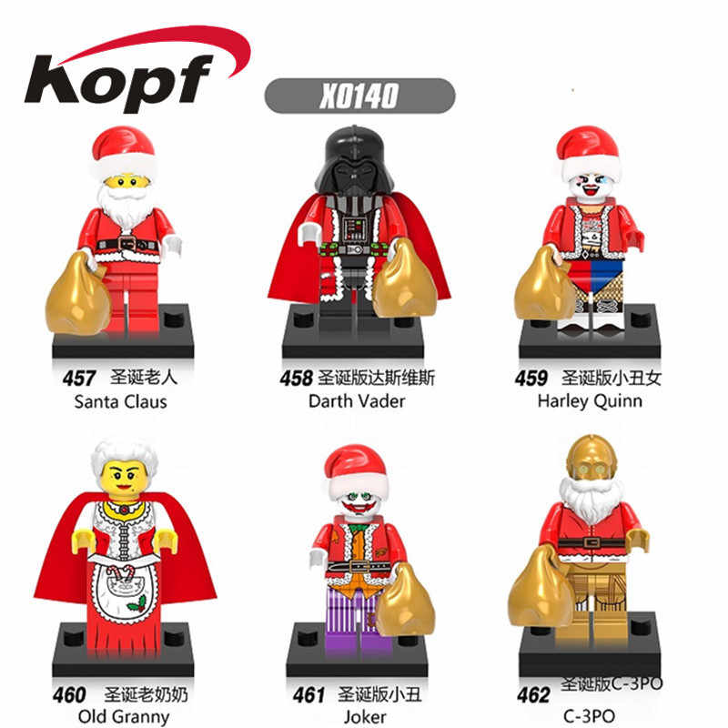 Single Sale Super Heroes Building Blocks Christmas Gift Darth Vader Harley Quinn Old Gran Bricks Figures For Children Toys X0140
