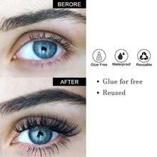 1 par natural longo falso vison olho cílios grossos maquiagem cílios postiços