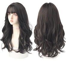 7jhh модные Омбре коричневые черные длинные волнистые волосы