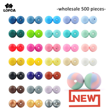 Silicone Bead Wholesale 500pcs/lot Silicone Beads 12mm & 15mm Round Shape Baby Teether Silicone BPA Free DIY Teething Accessory