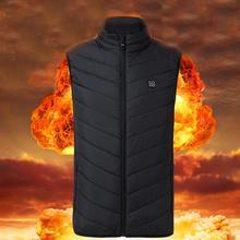 Motorcycle Outdoor Electric Heated Vest Sports Riding Winter Thermal Clothing Feather Warm USB Infrared Heating Waistcoat