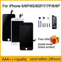 Pantalla LCD para iPhone 6, 6S, 7, 8 plus, digitalizador de pantalla táctil para iPhone 6p, 6SP, 7P, 8 P, montaje de repuesto, calidad AAA ++ con Gif