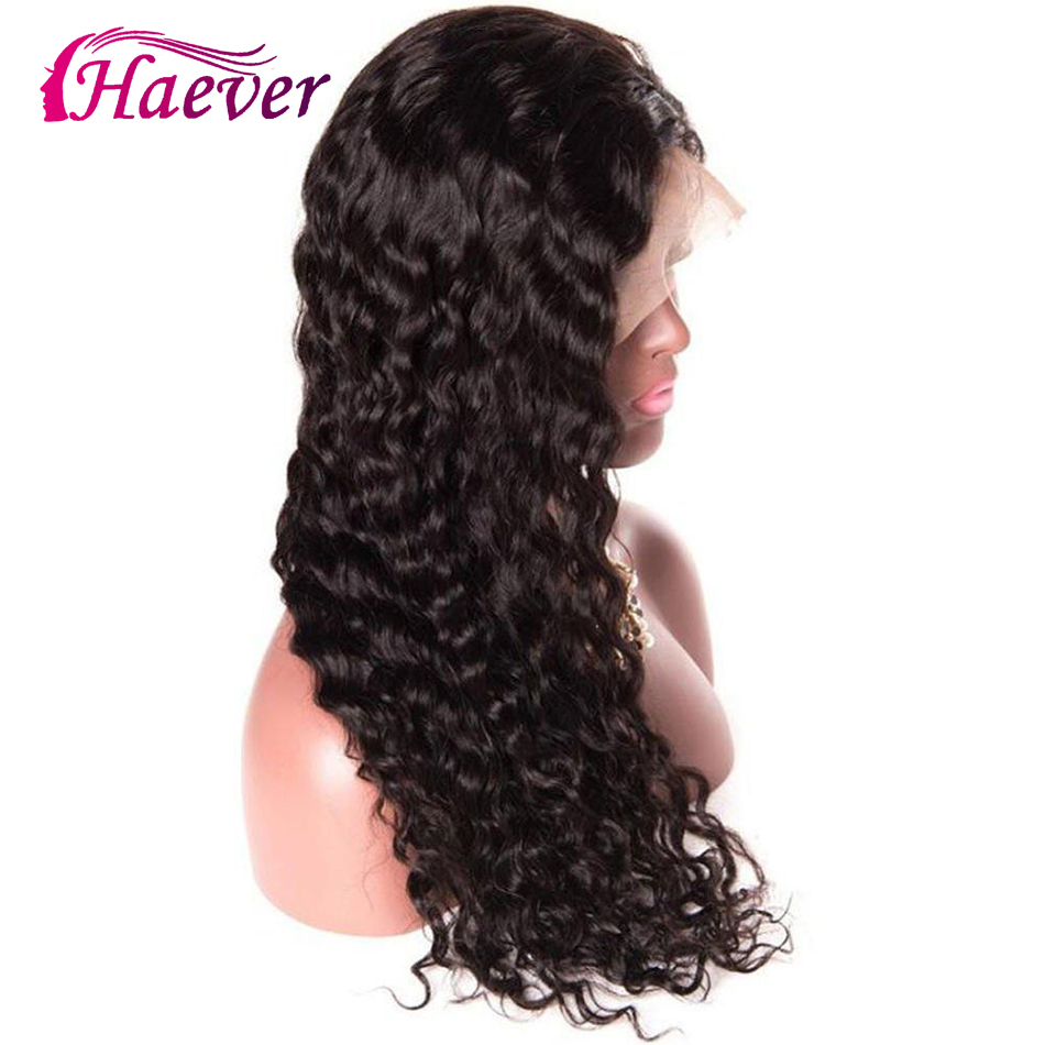 Haever Brazilian 13X4 Human Hair Water Wave Lace Front Closure Wigs PrePlucked With Baby New Hair Lace Frontal Wig 180 Density