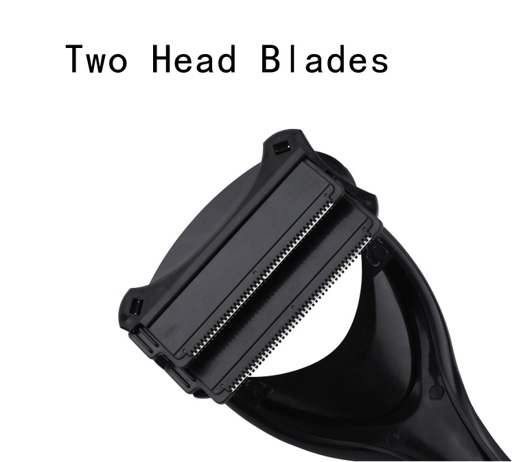 2pcs Men Back Hair Shaver Trimmer Razor Blades Body Shaver Razor Back Hair Remover Leg Hair Razors Two Blades