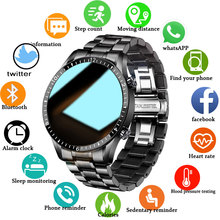 2021 새로운 스마트 시계 남자 전체 터치 스크린 스포츠 피트 니스 시계 안 드 로이드에 대 한 IP67 방수 블루투스 ios smartwatch Mens + box